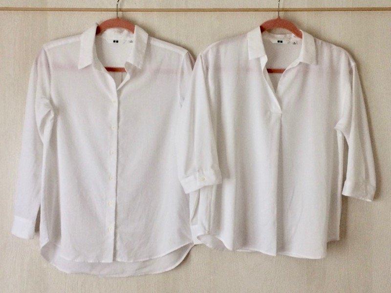ユニクロ白シャツ