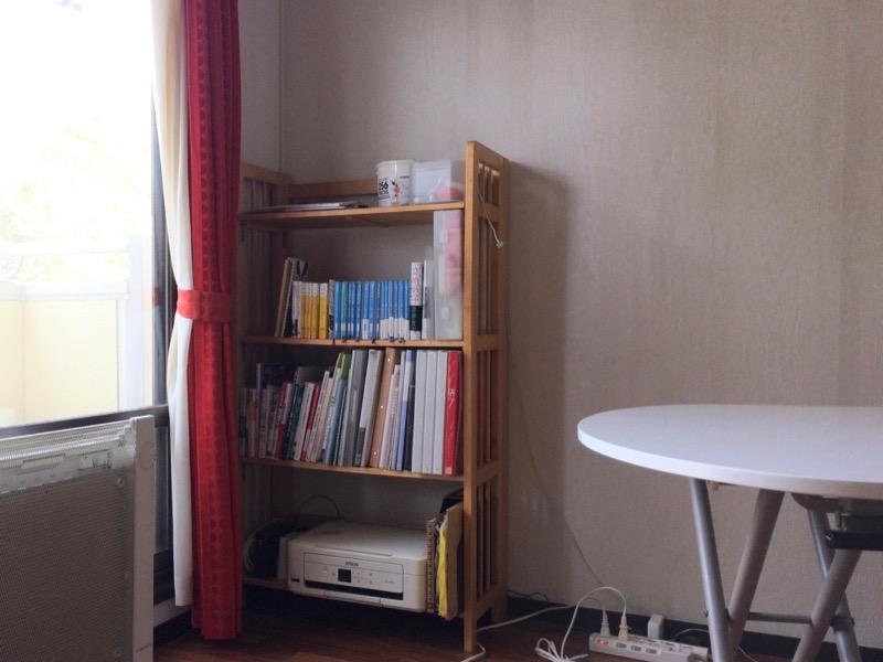 学習机から本棚に