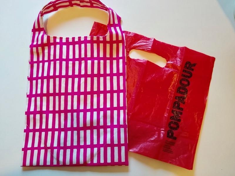 ポンパドウルの袋と比較
